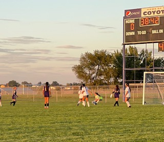Soccer Girls First Game of the Year