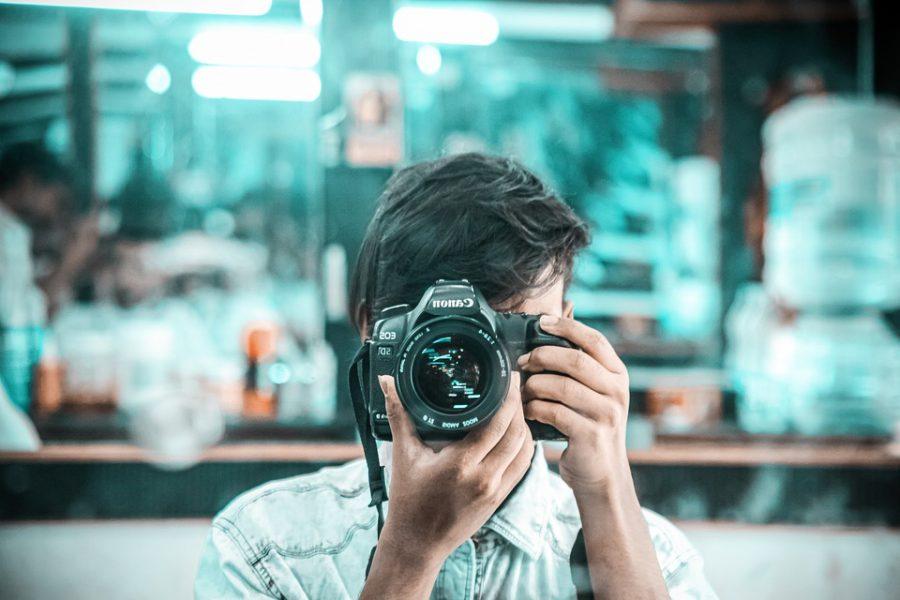 Mirror Dslr Camera Lens Reflection Boy